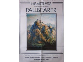 Pallbearer -Heartless promo poster 2017 doom metal