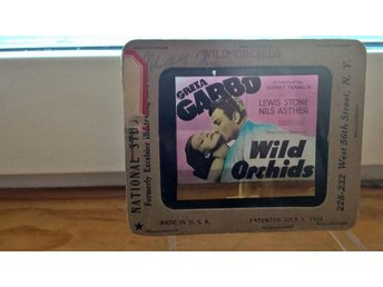GRETA GARBO- MOVIE SLIDE WILD ORCHIDS (RARE!!!)