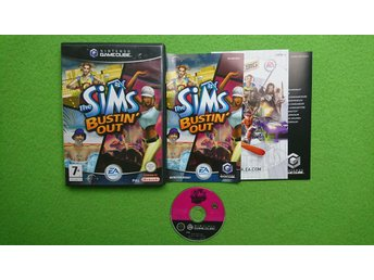 The Sims Bustin Out SVENSK UTGÅVA KOMPLETT Gamecube Nintendo Game Cube