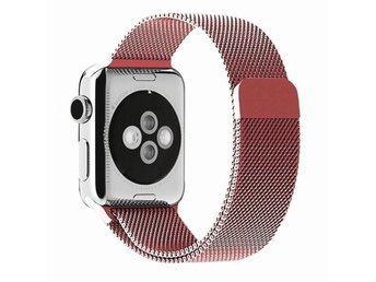 Milanese Loop 38mm Apple Watch Armband - (ROSE PINK)