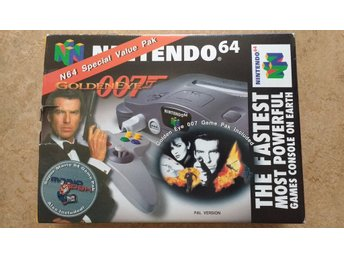 Svensksålt Nintendo 64 James Bond Goldeneye 007 + Super Mario 64 Pak