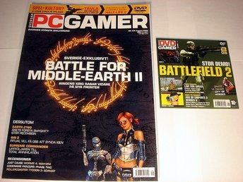 PC GAMER  Nr104 NY m DVD AUG2005  BATTLE FOR MIDDLE-EARTH 2