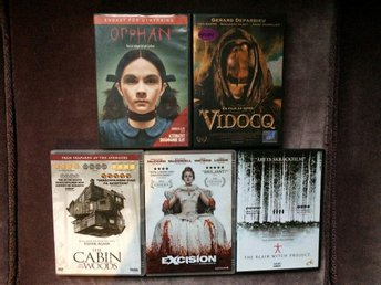 Paket 5 rysare Cabin in the woods, Excision, Orphan, Vidocq, Blair witch project