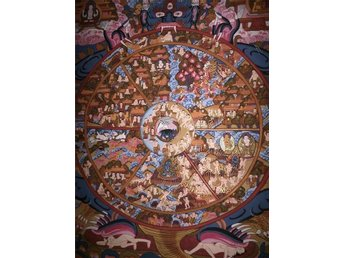 Wheel of life, thanka, thangka, handpainted, Buddhism, Buddha