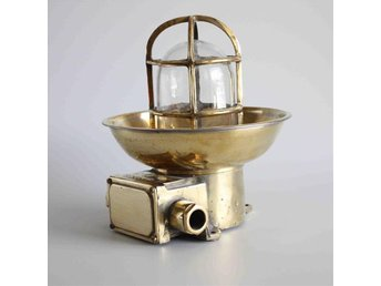 1 antika mässing skepp lampa brass ship light Marine Antique lamp