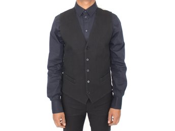 Dolce & Gabbana - Black Cotton Dress Vest Blazer Jacket