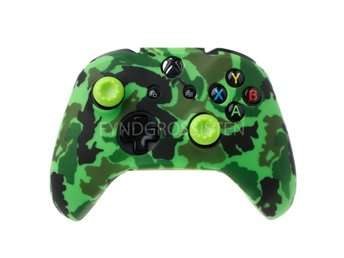 Camouflage Silicone Gamepad Cover for XBox One X S Green Fri Frakt Ny