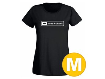 T-shirt Slide To Unlock Svart Dam tshirt M