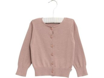 Wheat Stickad Cardigan Puderrosa stl.8år