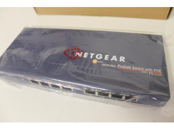 Netgear ProSafe FS108P, 8-ports switch med PoE, Power over Ethernet