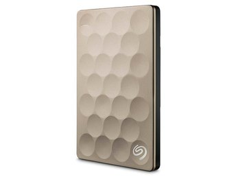 Seagate Extern Hårddisk 1TB Backup Plus Ultra Slim - Gold