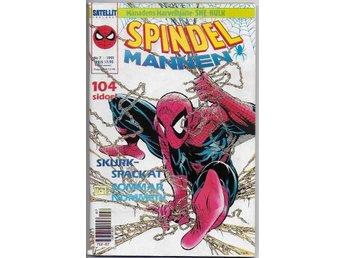 Spindelmannen 1991 Nr 7 VF med Poster - Vikingstad - Spindelmannen 1991 Nr 7 VF med Poster - Vikingstad