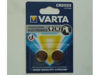 Batteri VARTA Germany - lithium battery - 2025 DL2025 CR2025 - 2 st. - quality !