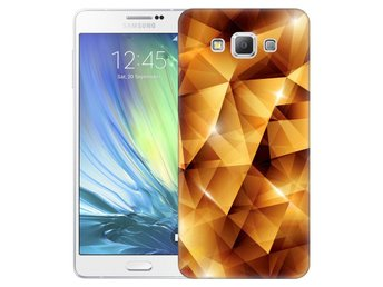 Samsung Galaxy A7 (2015) Skal Golden Polygons