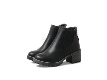 Dam Boots Style All Match Soild Grey Wome Boots Black 42