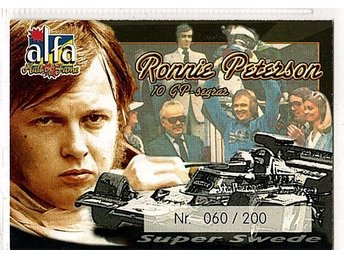 Alfa Hall of Fame Ronnie Pettersson 060/200