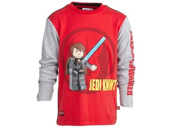 LEGO WEAR T-SHIRT STAR WARS, ANAKIN, RÖD (128)