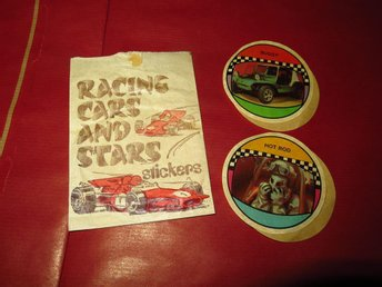 DEKAL,KLISTERMÄRKE,RACING CARS AND STARS,STICKERS,BUGGY,HOT ROD