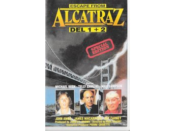 ESCAPE FROM ALCATRAZ DEL 1+2 -TELLY SAVALAS ( SVENSK VHS ! )