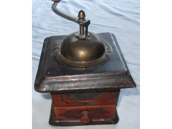 Antik vintage kaffe kvarn hand funktion Antique coffee grinder