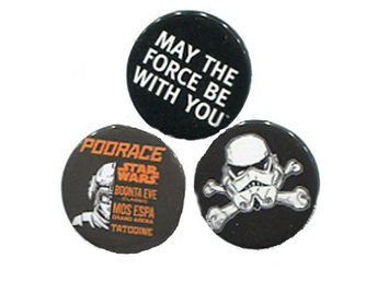 Star Wars badges May the force be with you Stjärnornas Krig