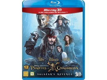 PIRATES OF THE CARIBBEAN SALAZARS REVENGE. NY OCH INPLASTAD PÅ BLU-RAY 3D
