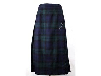 Riktig kilt, Made in Scotland, grön, blå, rutig, tartan, retro