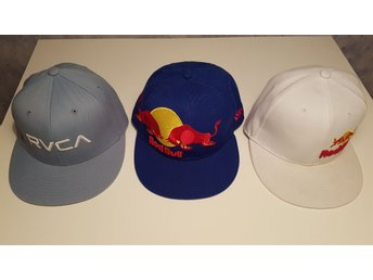 New Era kepsar 2st Red Bull, 1st RVCA flexfit S-M, keps 7 1/4