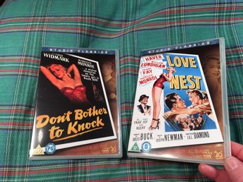 2DVD MARILYN MONROE OSPELAD Sv txt Don't bother to knock Love Nest FRI FRAKT