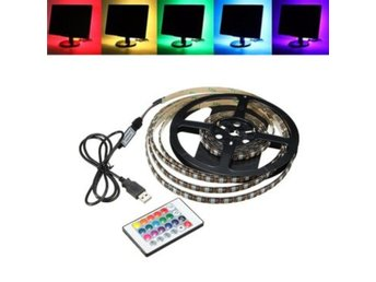 1M 2M 3M 4M vatten tät 5050 RGB LED USB Strip ljus TV Bac...