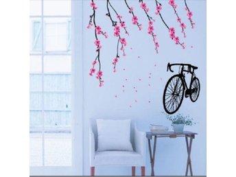 Väggdekor Grå : Blommor d effekt styck rosa väggdekor på tradera Övrig