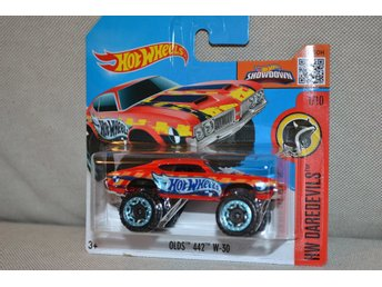 Olds 442 W-30 (Hot Wheels 2016) 1:64 HW Daredevils 1/10 Röd Ny
