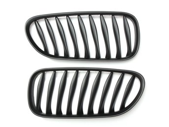 Kidney Sport Grille Grill Pair Left Right Matte Black for...