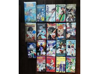 19 st Anime VHS Filmer Slayers Tenchi El Hazard Dragon Ball Z Fushigi Yuugi