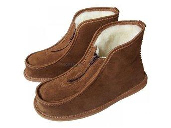 Fårskinn stövlar lammull tofflor lammskinn ull dam skor dragkedja kängor  boots c6525aea2bf72