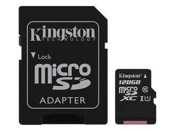 Kingston 128GB microSDXC Klass 10 UHS-I 45MB/s läs, inkl SD Adapter - Höganäs - Kingston 128GB microSDXC Klass 10 UHS-I 45MB/s läs, inkl SD Adapter - Höganäs