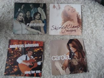 4 Cd Singl Melodifestivalen 2001-06 Carola Friends Shirley Clamp Andreas Johnson