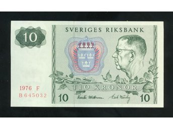 1976 S 10 kronor Sedel 1 st se bild - Västra Frölunda - 1976 S 10 kronor Sedel 1 st se bild - Västra Frölunda