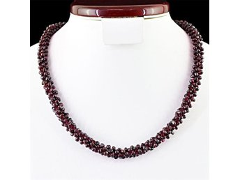 430.00 CTS NATURAL UNHEATED RICH RED GARNET BEADS NECKLACE - Alingsås - 430.00 CTS NATURAL UNHEATED RICH RED GARNET BEADS NECKLACE - Alingsås