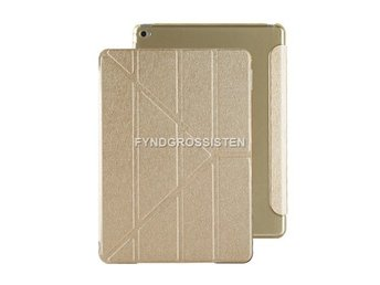 iPad 2/3/4 Magnetic fodral Cover Back Case Guld Fri Frakt He