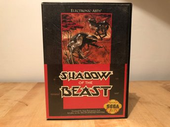 Shadow of the Beast till Sega Genesis med manual