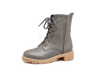 Dam Boots Spring and Autumn Ladies Ankle Boots Gray 42