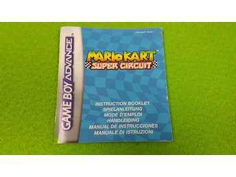 Mario Kart Super Circuit Manual Gameboy Advance Nintendo GBA