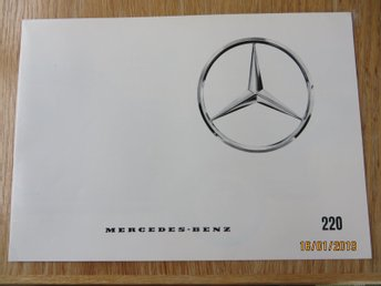 "Mercedes, 220 ""Fenmodell"" 1960-65, folder"