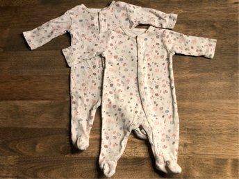 nya stilar professionell försäljning begränsad garanti 2 st Åhlens pyjamas med fot strl 44, eko, prema.. (373471458) ᐈ ...
