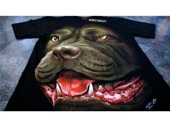 T-Shirt. Svart. Rock. Pitbull. Medium - Solna - T-Shirt. Svart. Rock. Pitbull. Medium - Solna