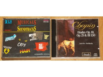 3 x CD - Soundtrack - Hair, Cats, West side story m fl - Chopin