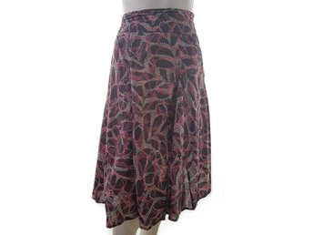 Collection Debenhams size 18 (46) Skirt flared pattern pink cotton 100% brown