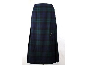 Riktig kilt, Made in Scotland, grån, blå, tartan, retro