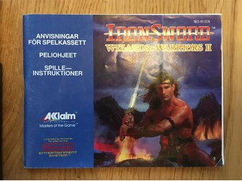 Wizards & Warriors II - Ironsword (SCN) Manual / Instruktionsbok